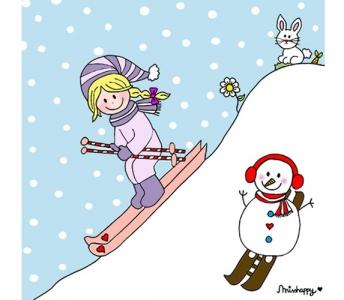 Skier little girl
