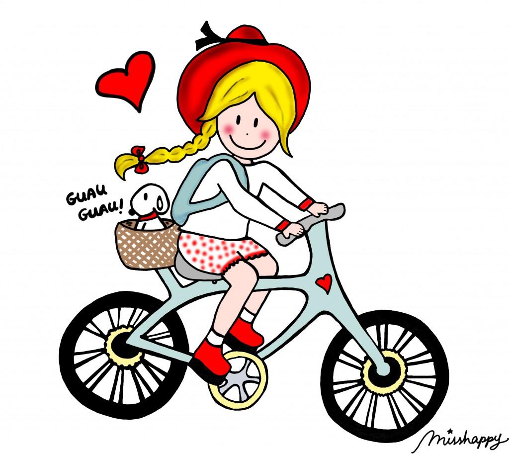 Modelo bici rubia